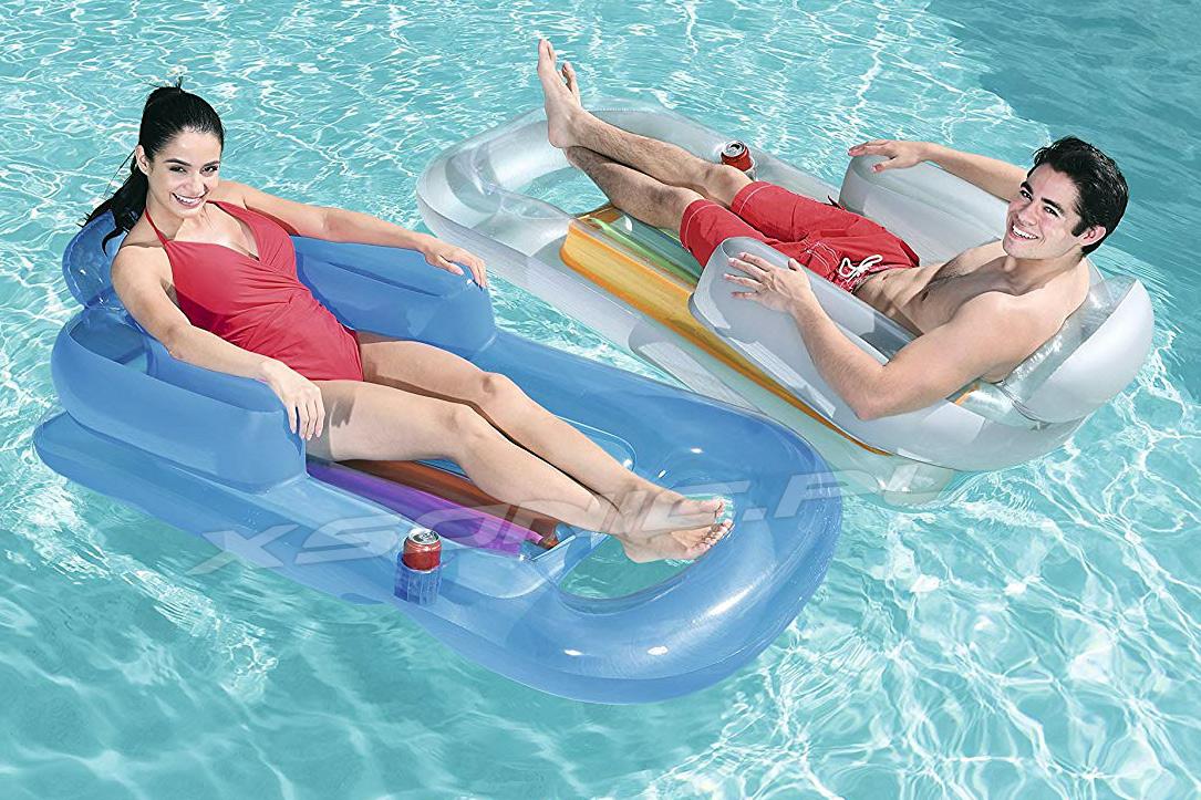 Dmuchany fotel do pływania 157 x 89 materac z oparciem Bestway 43028