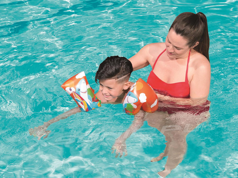 Rękawki do pływania dla dzieci Rekin lub Pingwin 30 x 15 cm Bestway 32102