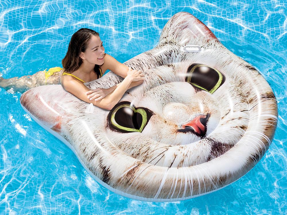 Dmuchany materac plażowy jednoosobowy Kotek 147 x 135 cm INTEX 58784