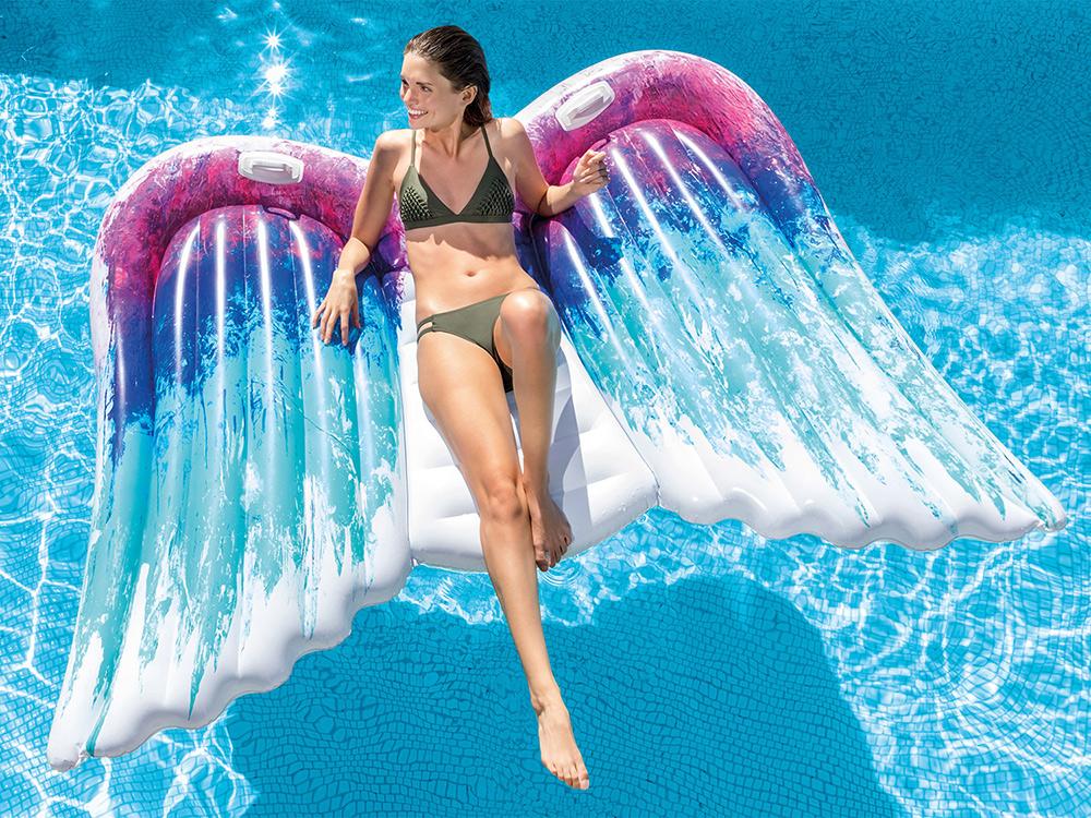 Dmuchany materac plażowy Skrzydła Anioła 251 x 160 cm INTEX 58786