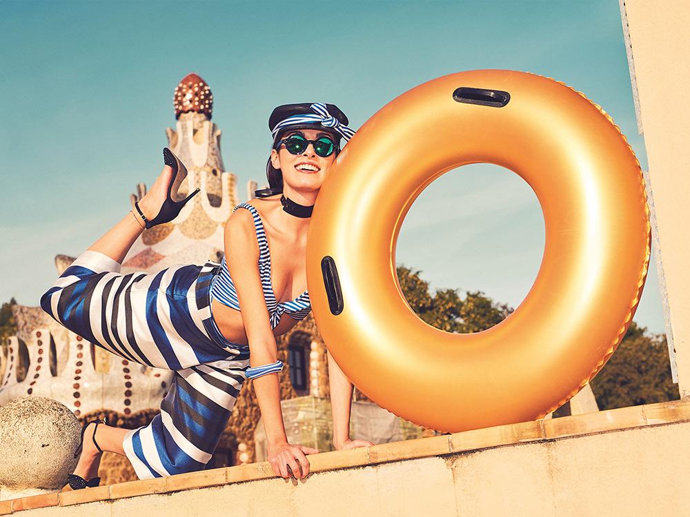 Złote koło do pływania Gold Swim plażowe 91 cm Bestway 36127