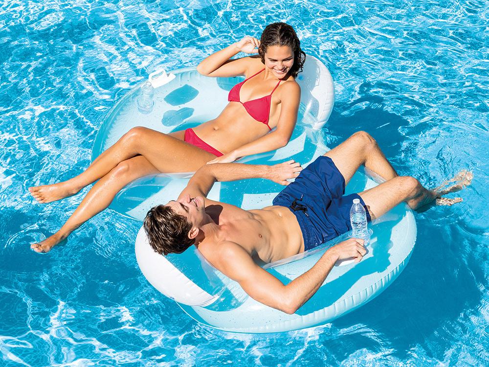 Podwójne koło do pływania fotel dla dwóch osób 198 x 117 cm Intex 56800
