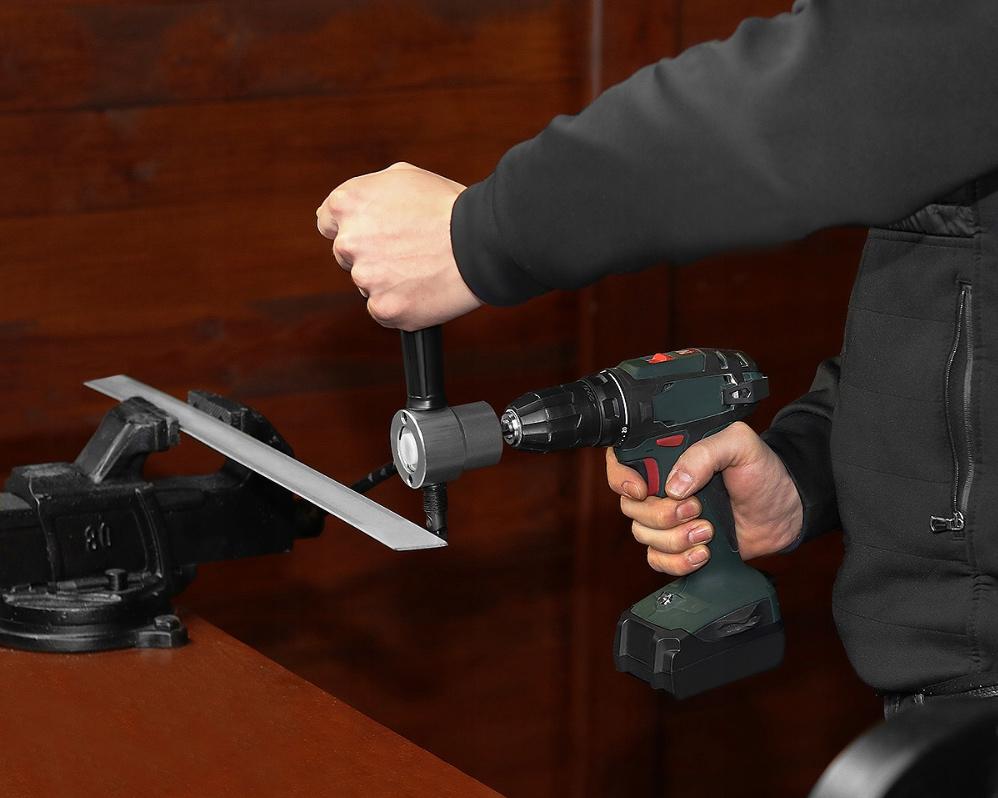Przystawka nożyce do cięcia blachy wycinarka na wiertarkę