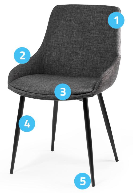 Nowoczesne krzesło skandynawskie czarne lub białe dębowe nogi