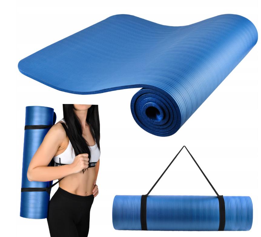 Gruba Mata do Ćwiczeń Joga Fitness Fizjo NBR 1 cm