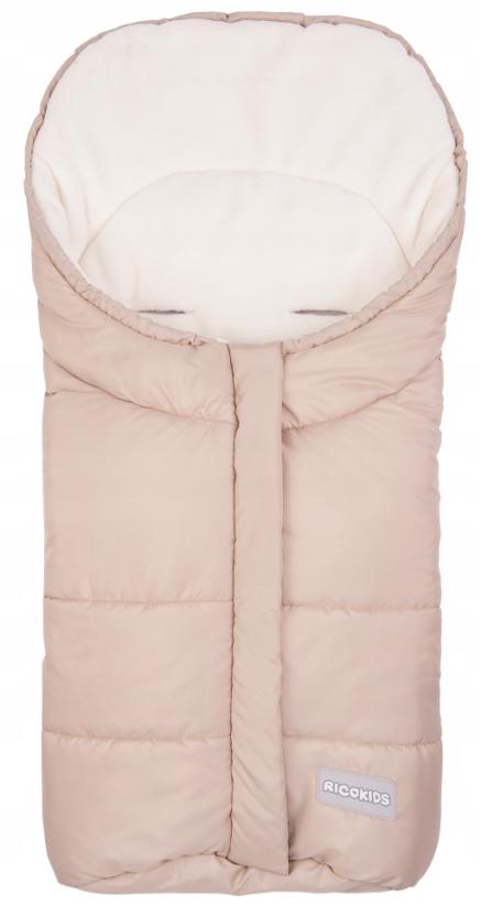 Zapinany ciepły pluszowy i odporny na warunki śpiworek