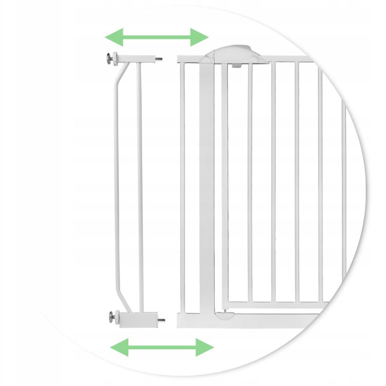 Bramka z rozszerzeniem w komplecie blokująca wejscie na schody