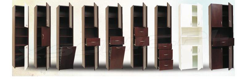 Różne szafki łazienkowe naszej produkcji z płyty 18mm