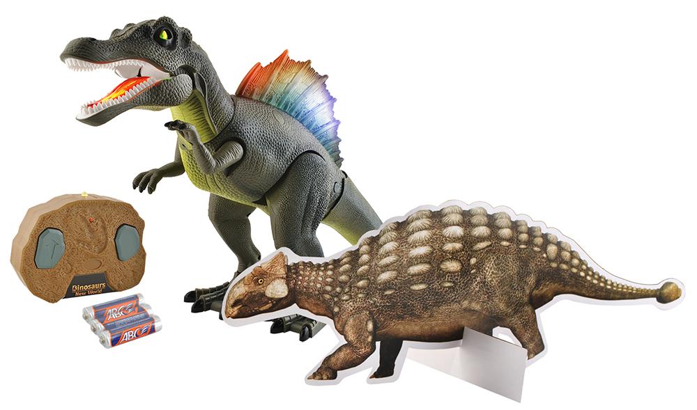 Dinozaur zdalnie sterowany chodzi ryczy zabawka