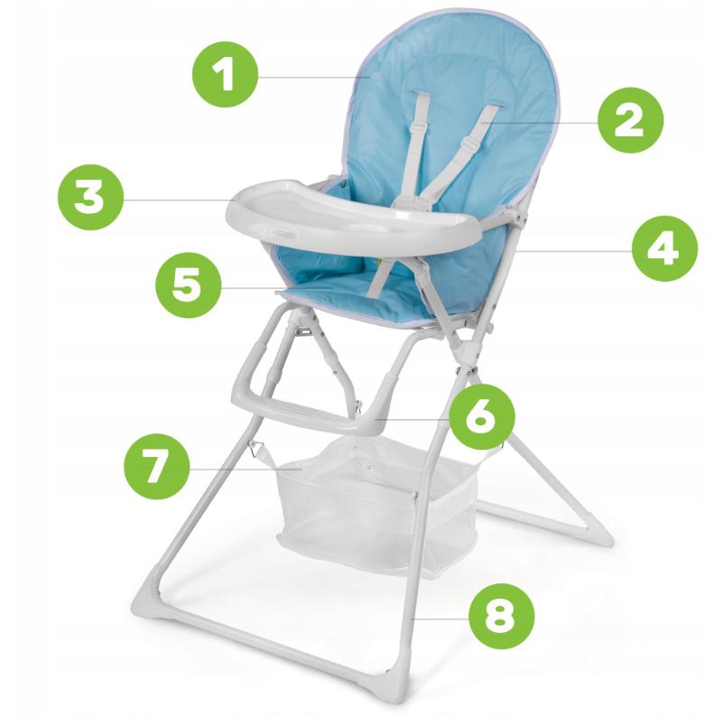 Krzesełko do karmienia dla dzieci tacka stoliczek