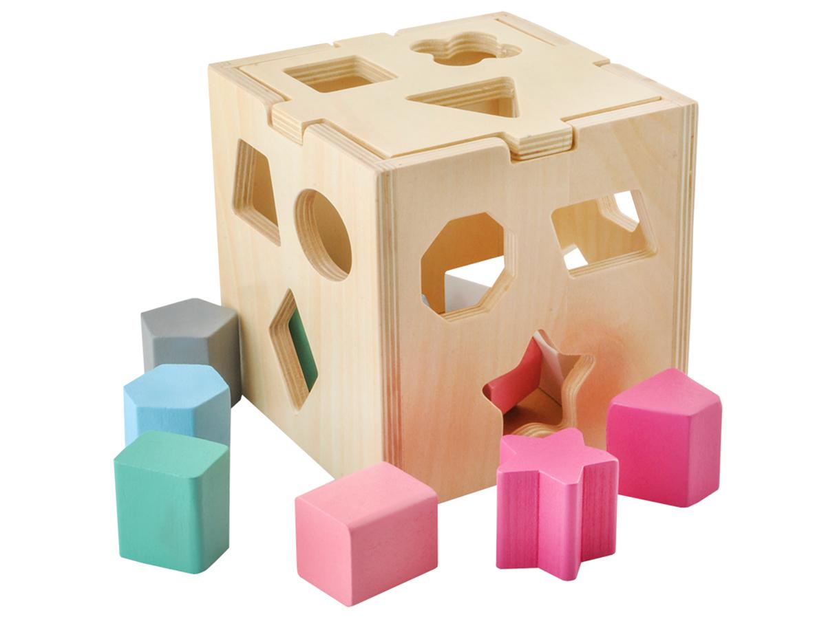 Sorter drewniane klocki dla dzieci do układania