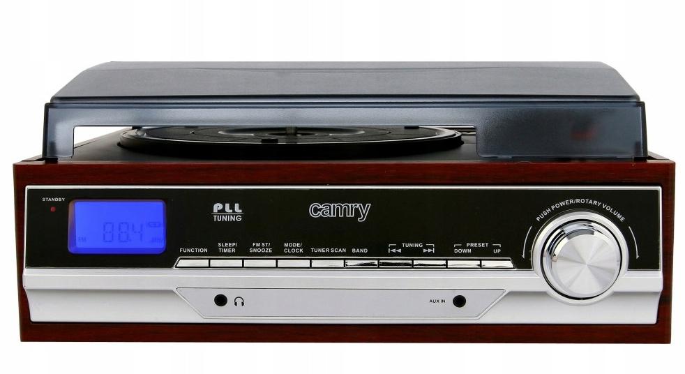 Piękny gramofon retro z radiem FM Camry