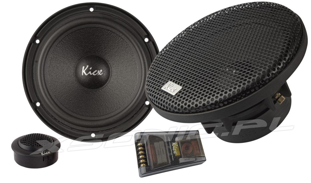 PRO 62N Kicx głośniki samochodowe na zwrotnicach basy i syczki