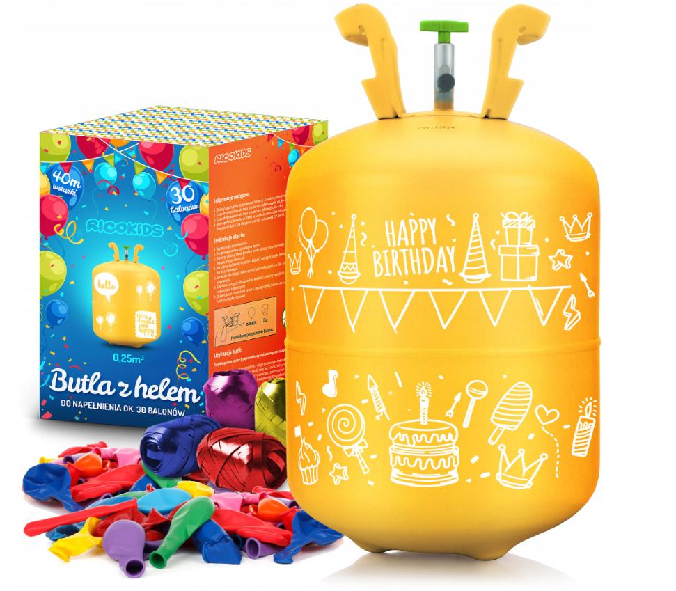 Butla z helem do napełniania balonów