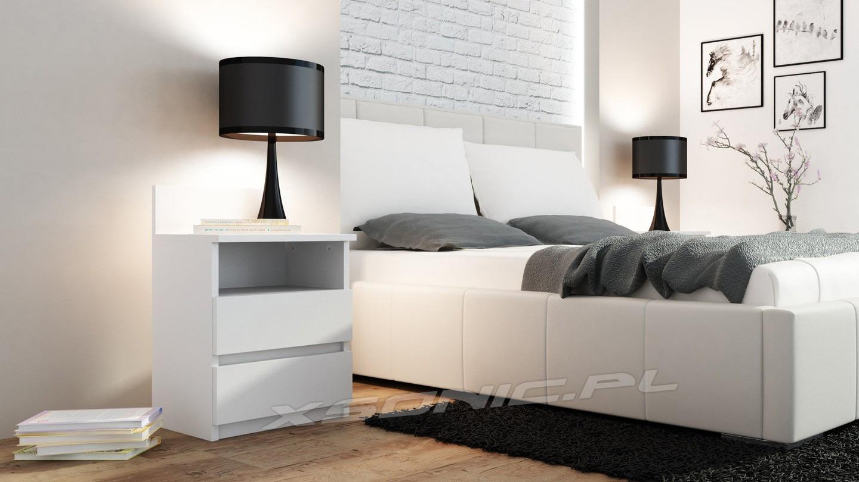 Szafka nocna biała kontenerek do postawienia obok łóżka