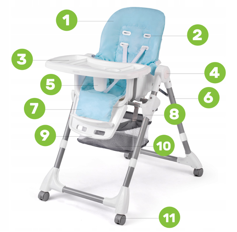 Krzesłko do karmienia dla małych dzieci Simo