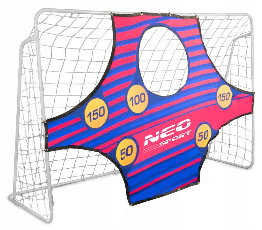Duża bramka do piłki nożnej piłkarska 245 x 155 x 80 cm mata celownicza