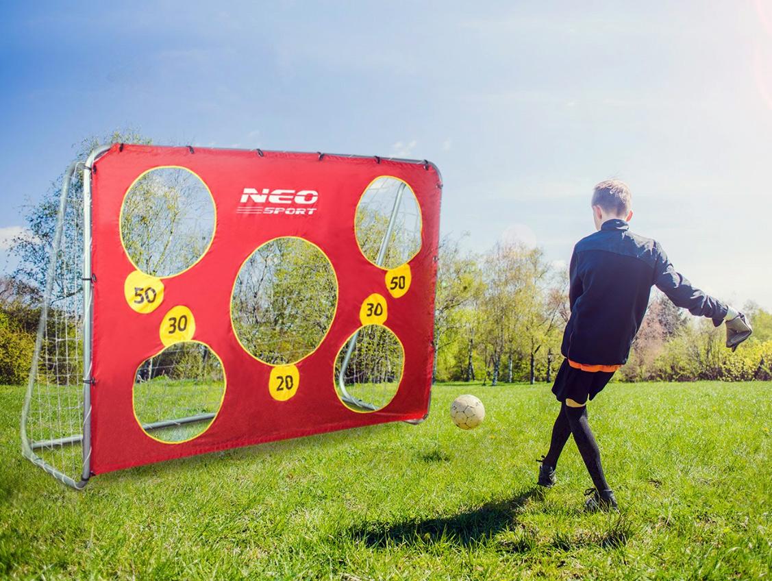 Duża bramka do piłki nożnej piłkarska 215 x 153 x 76 cm + mata celownicza