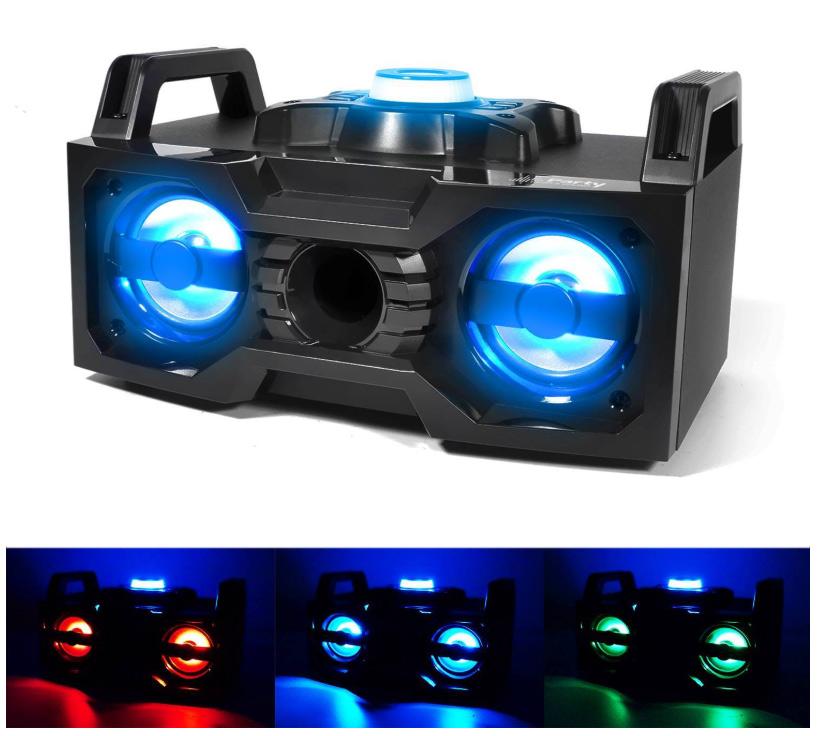 Party-Soundbox z LED małe nagłośnienie Boombox