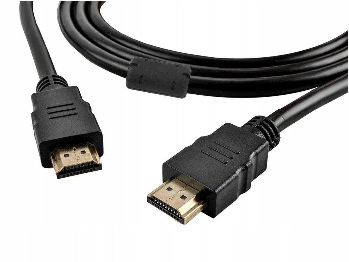 Złoty kabel HDMI - HDMI 2 metry v1.4 1080p Gold + filtr do 4K