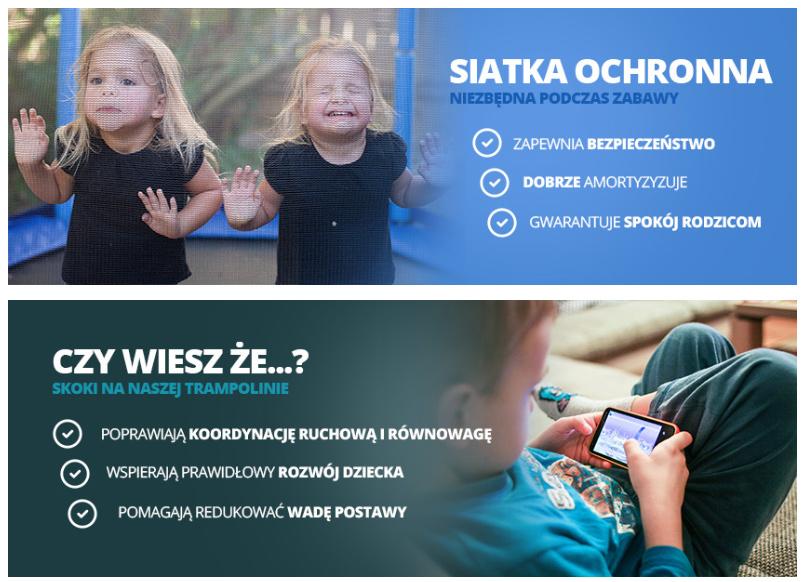 Trampolina ogrodowa 13ft/404cm z siatką wewnętrzną i drabinką dla dzieci