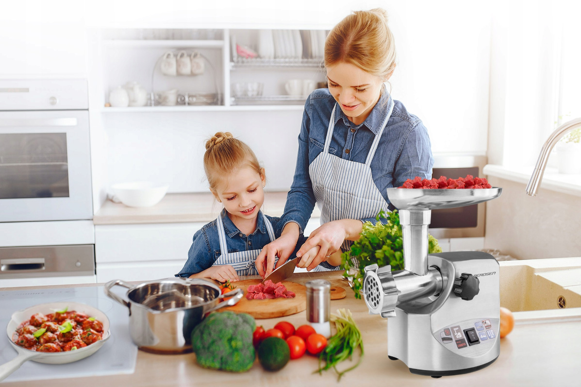 Maszynka elektryczna do mielenia mięsa 3 tuleje masarskie sitka kebbe