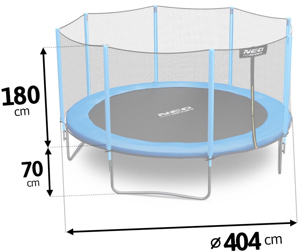 Trampolina ogrodowa 13ft/404cm z siatką zewnętrzną i drabinką w prezencie