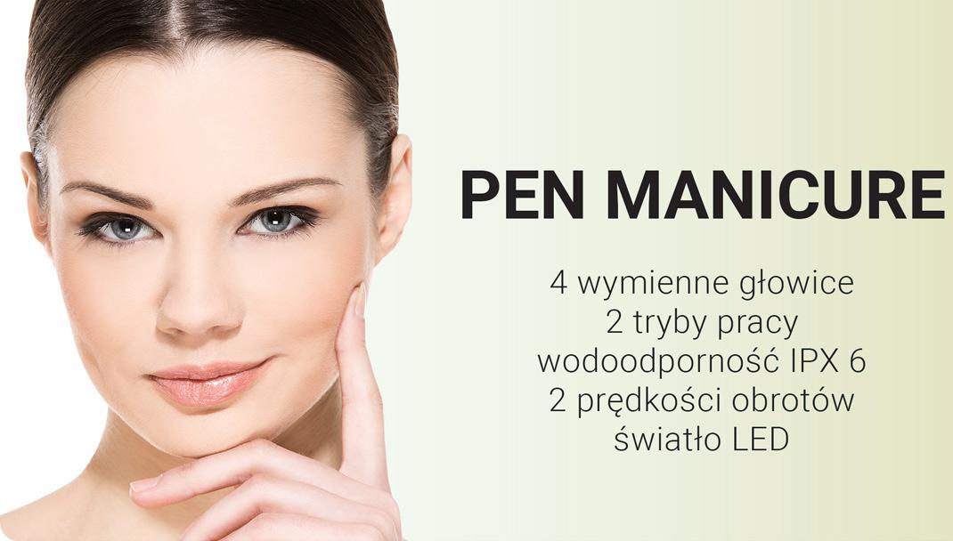 Kompaktowe i przenośne urządzenie do pielęgnacji paznokci Pen Manicure marki Beautifly