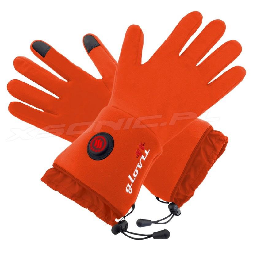Rękawice ogrzewane GLOVII model GLR pomarańczowe damskie i męskie UNISEKS