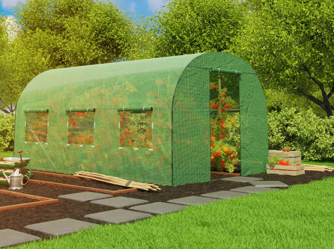 Szklarnia ogrodowa 2x4,5m 9m2 mocny tunel foliowy z oknami