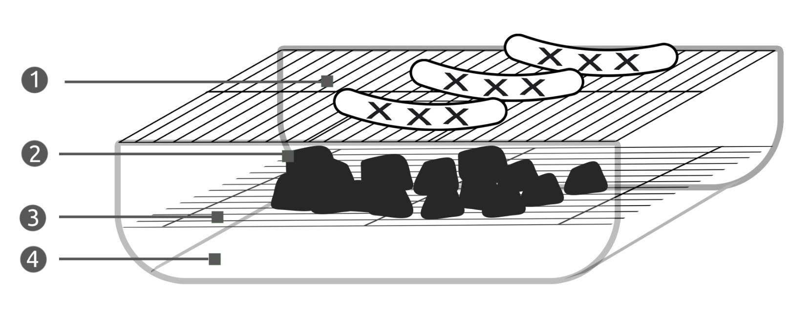 Grill ogrodowy z pokrywą zamykany kwadratowy ruszt na kółkach półki